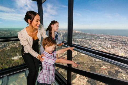 Click to view details and reviews for Melbourne Aquarium Eureka Skydeck Kids Eat Free Insignia.