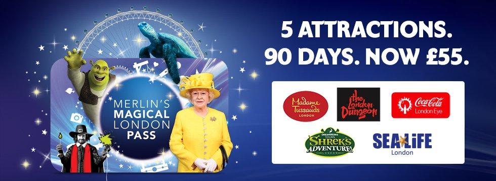 Merlin's Magical London Ticket - 5 for £55 Offer